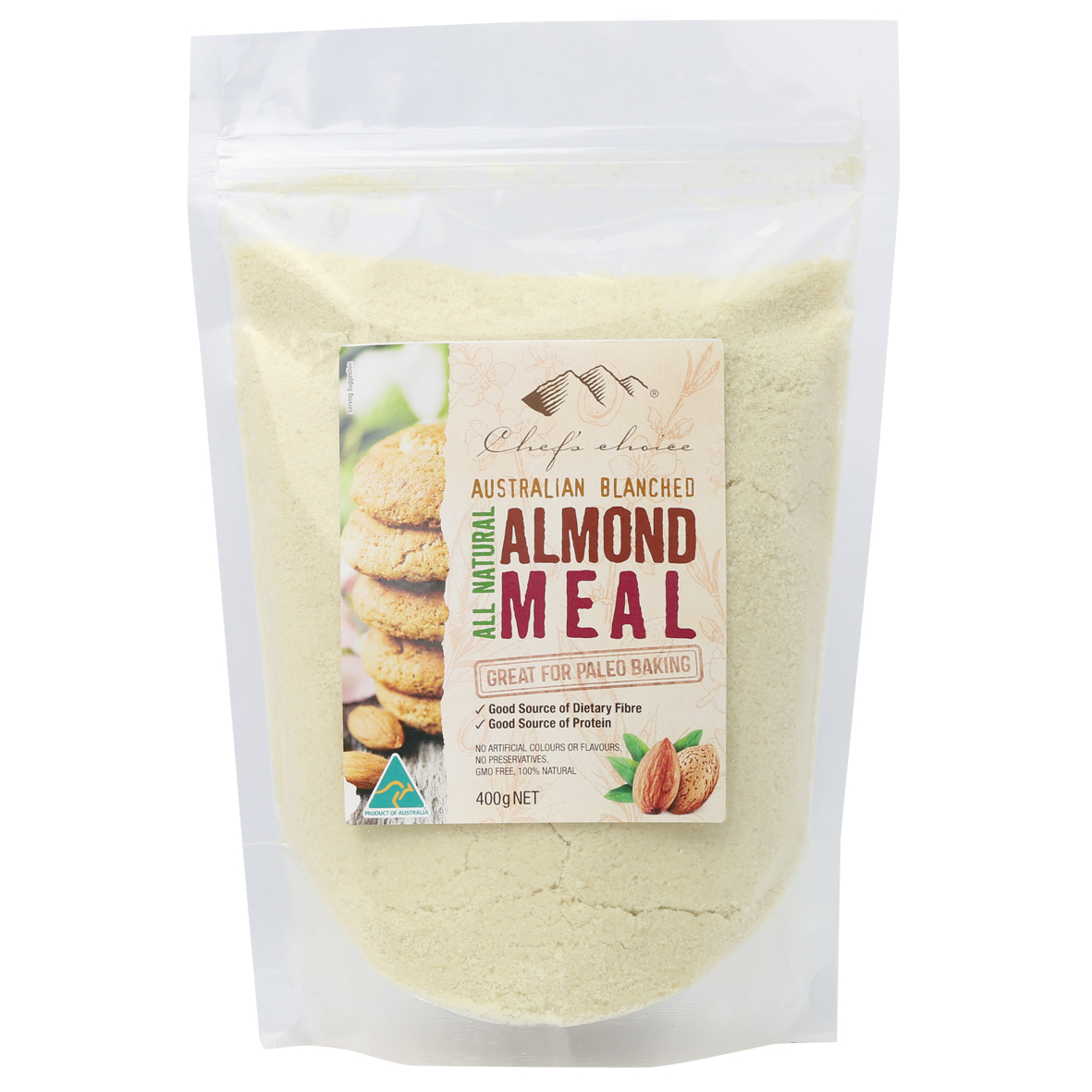 Chef's Choice All Natural Australian Blanched Almond Meal 400g