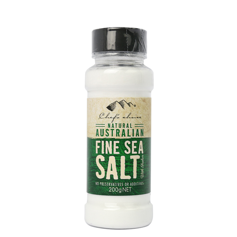 Chef's Choice Natural Australian Fine Sea Salt with Shaker 200g