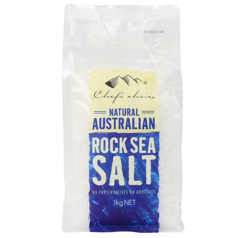 Chef's Choice Natural Australian Rock Sea Salt with Grinder 1kg (refill pack)