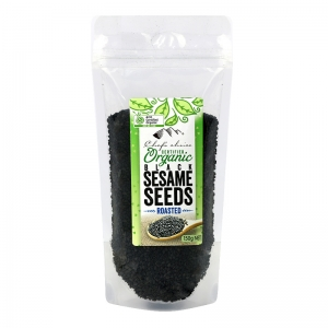 Chef's Choice Certified Organic Black Roasted Sesame Seeds 150 g