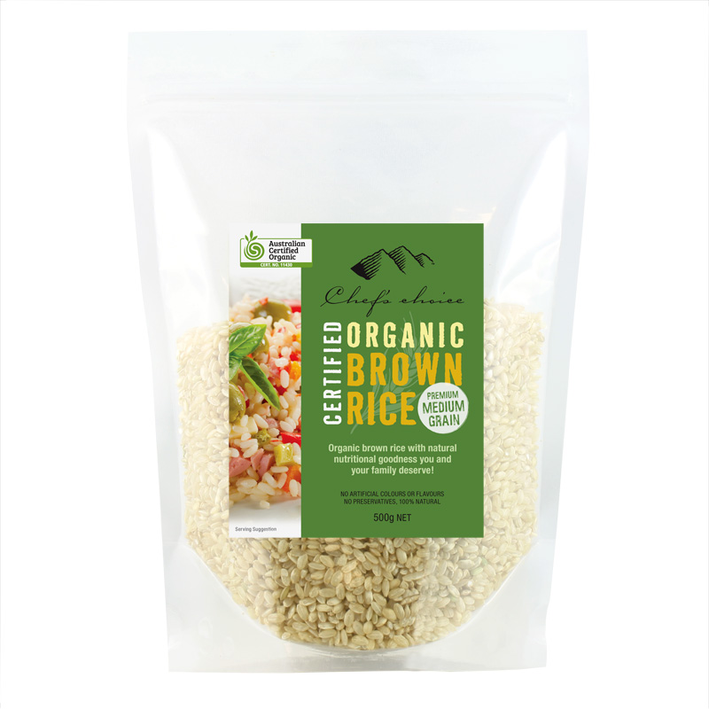 Organic Brown Rice Premium medium-grain 500g