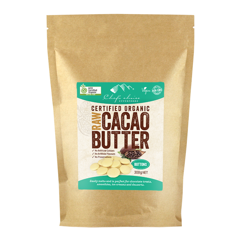 Chef's Choice Superfoods Raw Organic Cacao Butter (Buttons) 300g