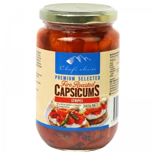 Chef's Choice Premium Selected Fire Roasted Capsicums (Stripes) 340g