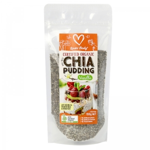 Lovin' Body Certified Organic Pre-Mix Vanilla Chia Pudding 155g