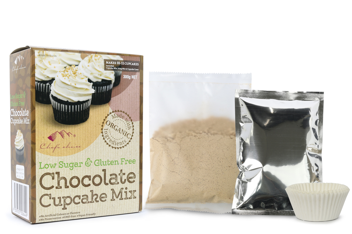 Chef's Choice Low Sugar & Gluten Free Chocolate Cupcake Mix 300g NET