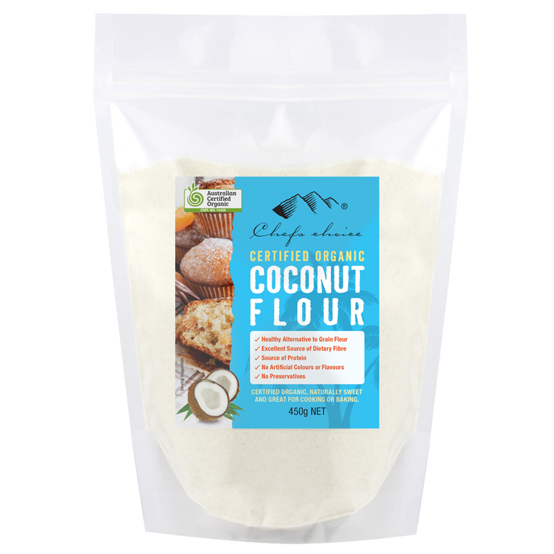 Chef S Choice Certified Organic Coconut Flour 450g