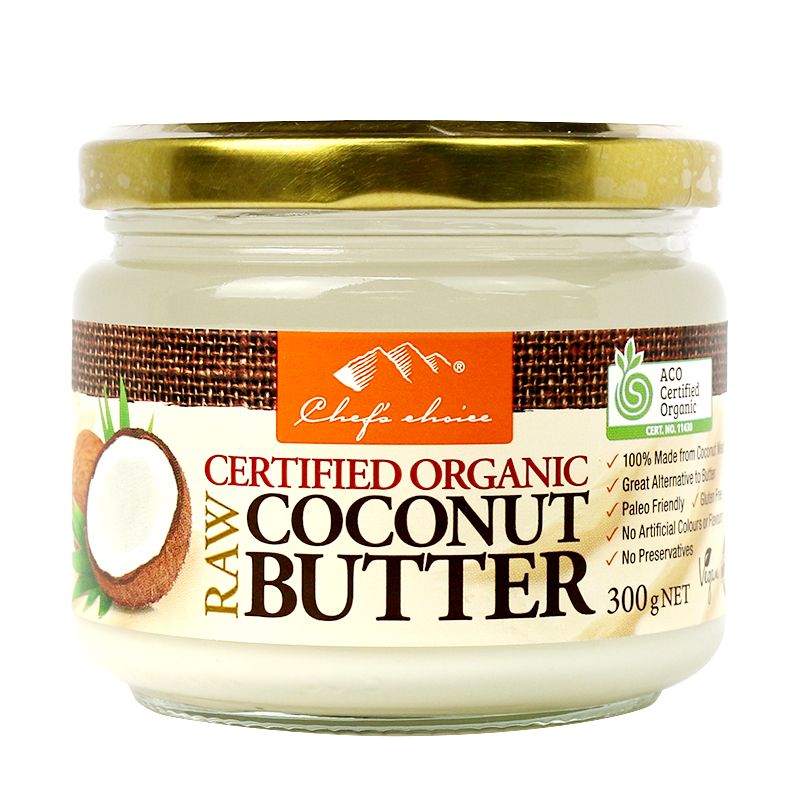Chef's Choice Certified Organic Raw Coconut Butter 300g