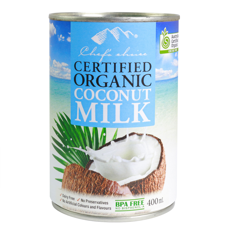 Chef's Choice Certified Organic Coconut Milk 400mL