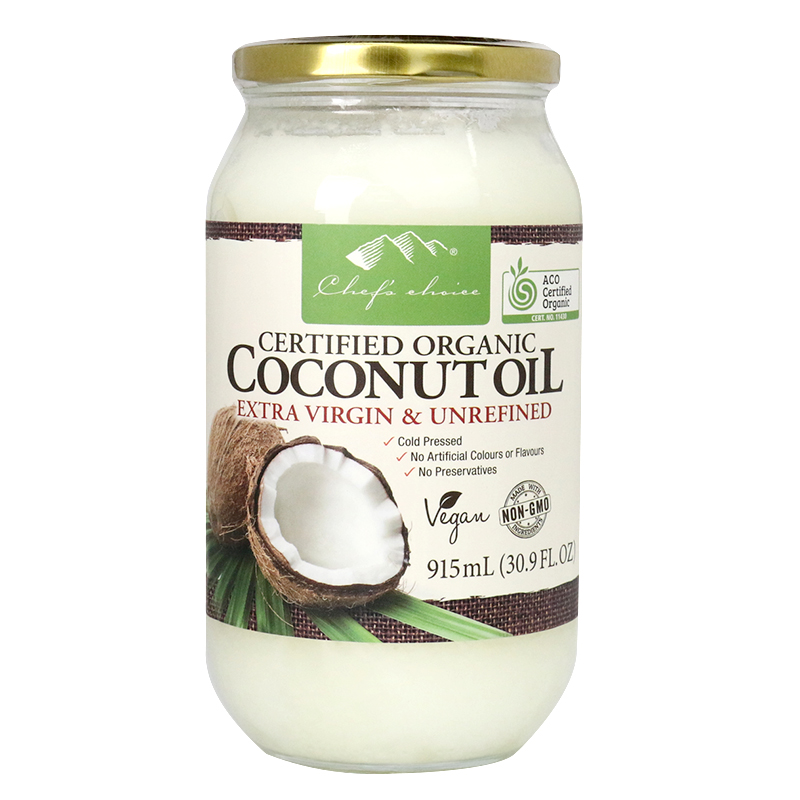 Chef's Choice Certified Organic Coconut Oil Extra Virgin & Unrefined 915mL
