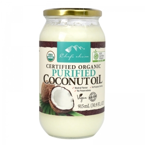 Chef's Choice Certified Organic Purified Coconut Oil 915mL