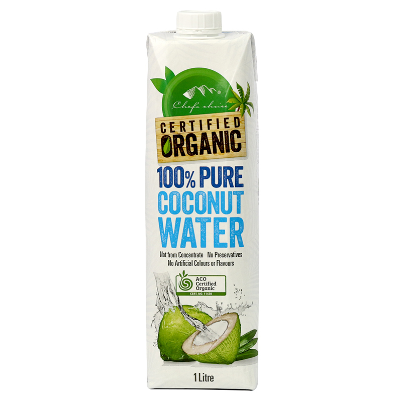 Chef's Choice Certified Organic 100% Pure Coconut Water 1L