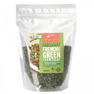 Chef's Choice Certified Organic French Style Green Lentils 500g