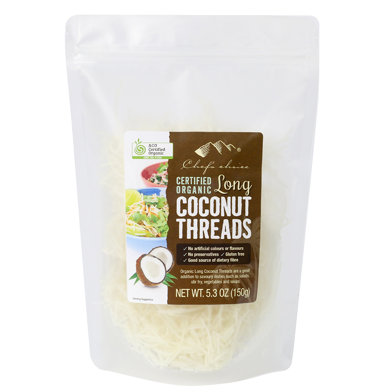 Chef's Choice Certified Organic Long Coconut Threads 150g