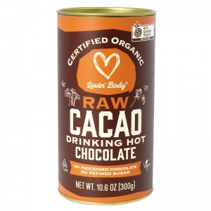 Lovin' Body Certified Organic Raw Cacao Drinking Hot Chocolate 300g
