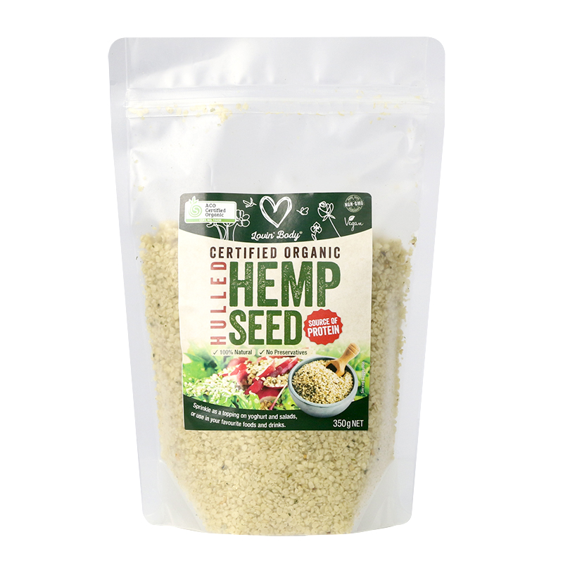 Lovin' Body Certified Organic Hulled Hemp Seed  350 g