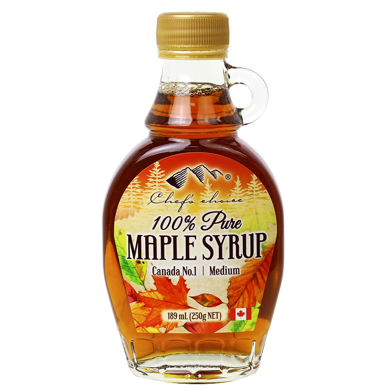 Chef's Choice 100% Pure Maple Syrup (Medium Grade) 189 mL (250g)