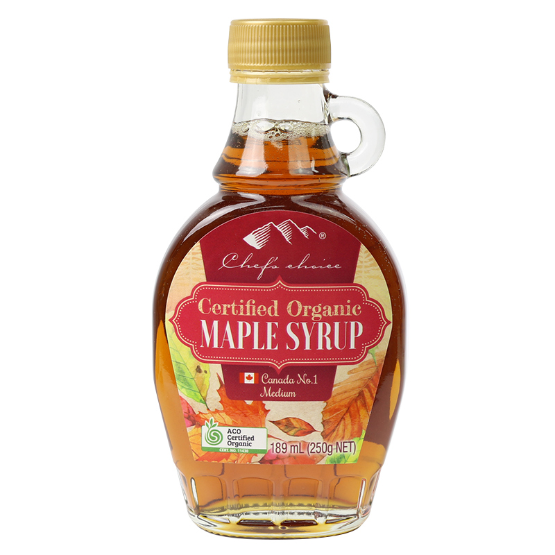 Chef's Choice Certified Organic Maple Syrup (Medium Grade) 189 mL (250g)