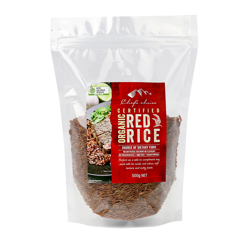 Chef's Choice Certified Organic Red Rice 500g