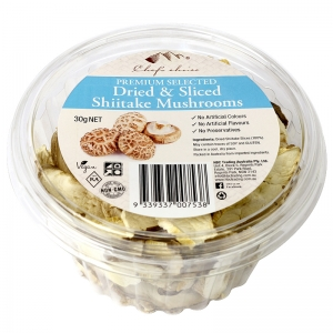 Chef's Choice Premium Selected Dried & Sliced Shiitake Mushrooms 30g