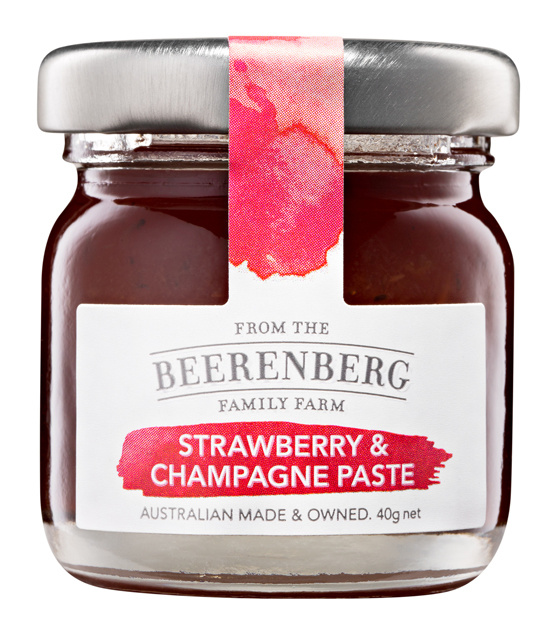 BEERENBERG Strawberry & Champagne Cheeseboard Paste Pot 40g