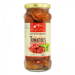 Chef's Choice Certified Organic Sun-Dried Tomatoes in Extra Virgin Olive Oil