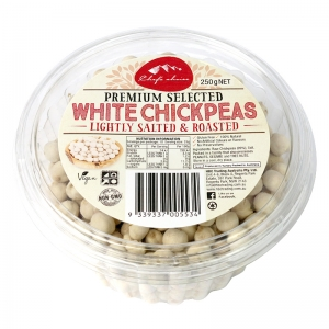 Chef's Choice Premium Selected White Chickpeas – Lightly Salted & Roasted 250g