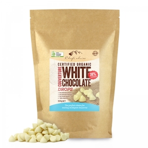 Chef's Choice Certified Organic White Chocolate Couverture Drops 300g