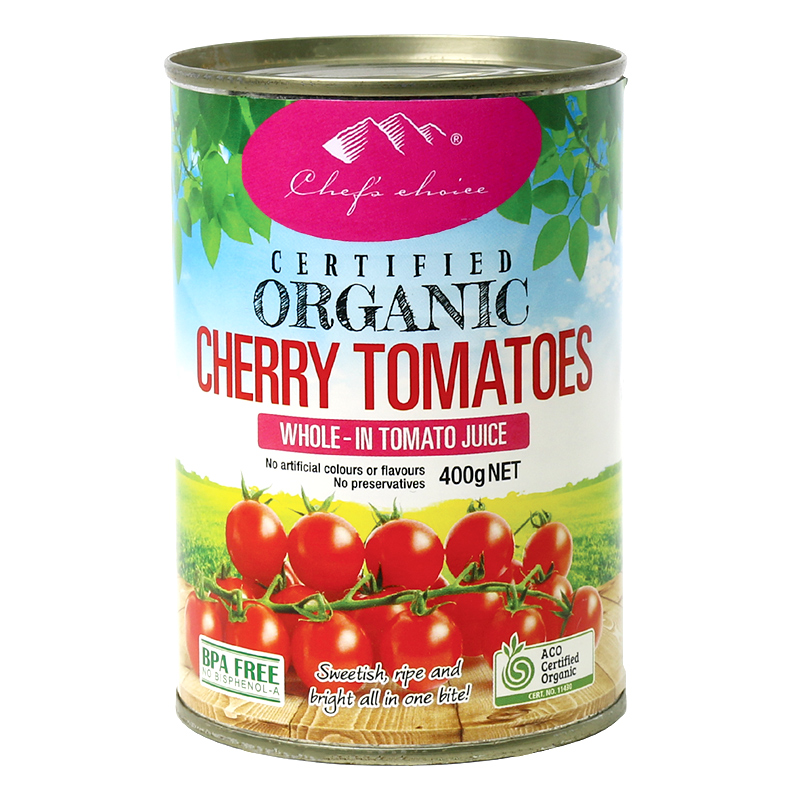 Chef's Choice Certified Organic Cherry Tomatoes 400g